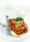lasagna ножа вилки стоковое изображение