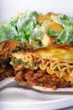 lasagna обеда Стоковая Фотография