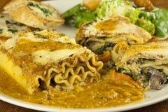 lasagna хлеба свертывает салат Стоковые Изображения RF