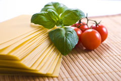 Lasagna sheets Stock Photos