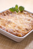 Lasagna. With basil in casserole Stock Images