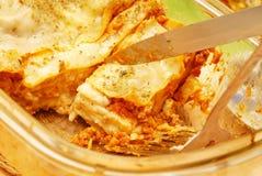 Lasagna Fotografia Stock Libera da Diritti