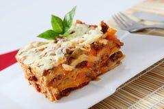 Lasagna royalty-vrije stock afbeelding