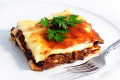 Lasagna Imagen de archivo libre de regalías