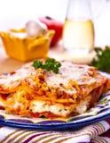 lasagna Arkivbild