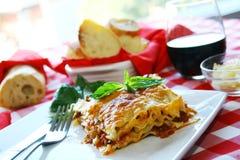 Lasagna Imagen de archivo