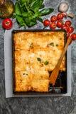 Εύγευστο παραδοσιακό ιταλικό lasagna Στοκ εικόνα με δικαίωμα ελεύθερης χρήσης