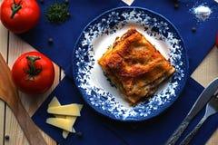 lasagna Imagenes de archivo