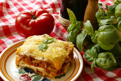 Lasagna Immagine Stock Libera da Diritti