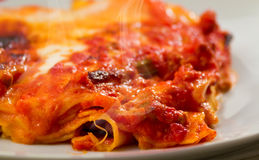 Lasagna with artichokes Royalty Free Stock Images
