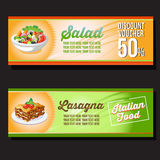 Lasagna banner Stock Images