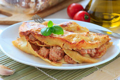 Lasagna with beef Royalty Free Stock Photography