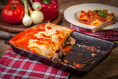 Lasagna with beef .Italian cuisine Royalty Free Stock Image