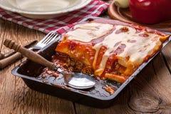 Lasagna with beef . Italian cuisine. Royalty Free Stock Photos
