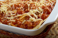 Lasagna with beef . stock images