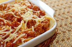 Lasagna with beef . Stock Photography