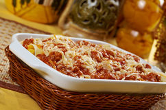 Lasagna with beef . Royalty Free Stock Images