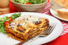 Lasagna with  Beef Meal Stock Images