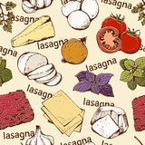 Lasagna bezszwowy wzór Obraz Royalty Free
