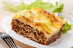 Lasagna boloñés Imagenes de archivo