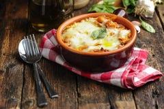 Lasagna boloñés Fotos de archivo libres de regalías