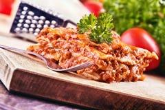 Lasagna bolognese Royalty-vrije Stock Fotografie