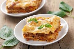 Lasagna bolognese Στοκ φωτογραφίες με δικαίωμα ελεύθερης χρήσης