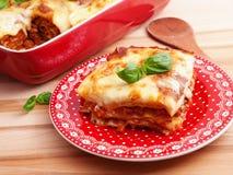 Lasagna Bolognese Royalty Free Stock Images