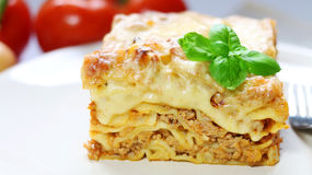Lasagna with bolognese sauce Stock Image