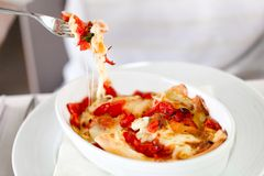 Lasagna With Carasau Bread Stock Photo