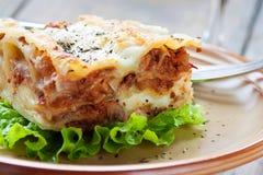 Lasagna caseiro fresco Fotografia de Stock Royalty Free
