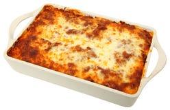 Lasagna Cassarole entero Foto de archivo libre de regalías