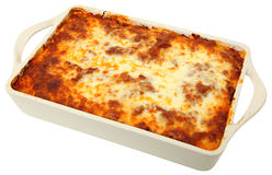 Lasagna Cassarole inteiro foto de stock royalty free