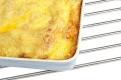 Lasagna in Ceramic Baking Dish Royalty Free Stock Photography