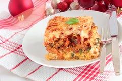Lasagna for Christmas Stock Photography