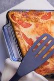 Lasagna cocido al horno Imágenes de archivo libres de regalías