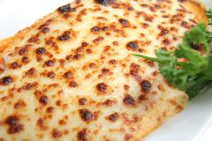 Lasagna cocido al horno Imagen de archivo libre de regalías