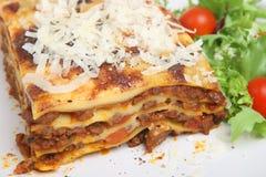 Lasagna com carne imagens de stock