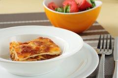 Lasagna com carne Fotos de Stock