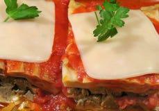 Lasagna com Mozzarella fotografia de stock