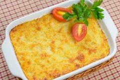 Lasagna com tomates Fotografia de Stock