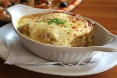 Lasagna cozido imagem de stock