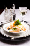 Lasagna del alimento de mar Foto de archivo libre de regalías