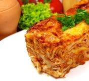 Lasagna del manzo Immagine Stock