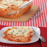 Lasagna Dinner Stock Images