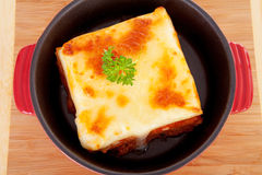 Lasagna dinner Stock Images