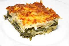 Lasagna do vegetariano com queijo do ricotta imagens de stock