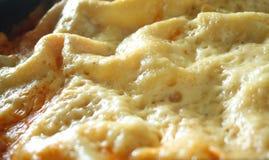 lasagna för ostskorpadetalj Arkivbild