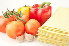 Lasagna ingredients Royalty Free Stock Images