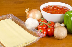 Lasagna Ingredients #4 Royalty Free Stock Photography